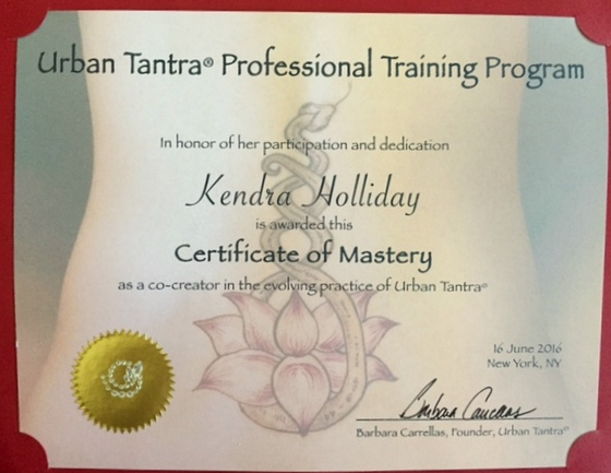 Tantra Study under Barbara Carrellas of Urban Tantra
